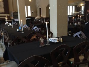These are some table decorations for the Harry Potter dinner. Photo courtesy by Callista Arida