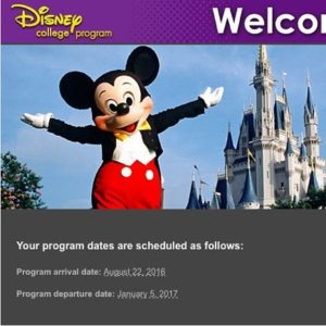 Schultz's second experience with the Disney College Program will begin in August 2016 and end in January 2017. Photo courtesy of O.Schultz.