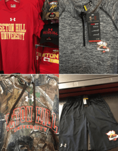 Here are just a few of the Under Armour items that the SHU Bookstore has on sale for the public. Photo courtesy of C.Strong.