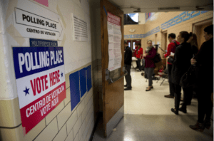 Election polls are often held in schools and community centers. Photo from post-gazette.com