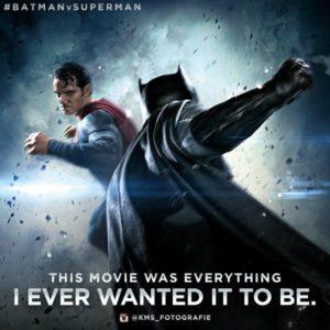 "Batman and Superman battle. Photo from the ""Batman v Superman"" Twitter."