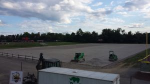 A snapshot shows the current progress of the new ProGrass turf field that will be available for Griffins sometime this month. Photo courtesy of D.Clark.