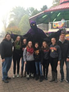 SHU students visit Kennywood to experience the terrors of the season. Photo courtesy of H.Hartman.