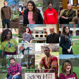 The Humans of Seton Hill profile picture is composed of previous stories. Photo courtesy of the Humans of Seton Hill Facebook page.