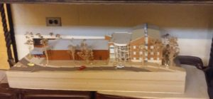 This is the model for the Boyle Science Center. Photo courtesy of L.Cowan/Setonian.