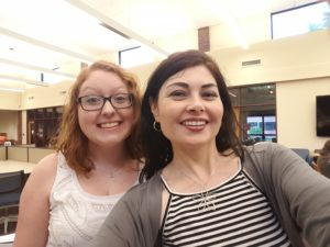 Kylie Weisenborn (left), mentee of Heidi Ruby Miller (right), is currently working on a young adult fantasy novel. Weisenborn is also a freelance writer and editor. She enjoys good food, long naps and petting strangers' dogs. Photo courtesy of Heidi Ruby Miller.