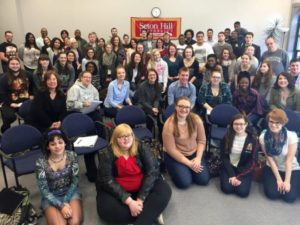 Seton Hill students participated in the Narrative 4 exchange. Photo courtesy of narrative4.com.