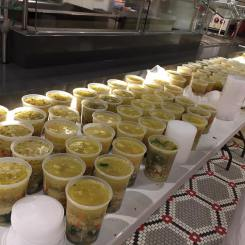 The PA program made 272 quarts of soup for their sale. Photo courtesy of S.Howell.