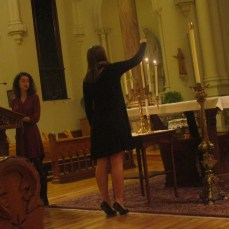 The third candle is lit. Photo by C.Arida/Setonian.