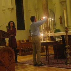 The fourth candle is lit. Photo by C.Arida/Setonian.
