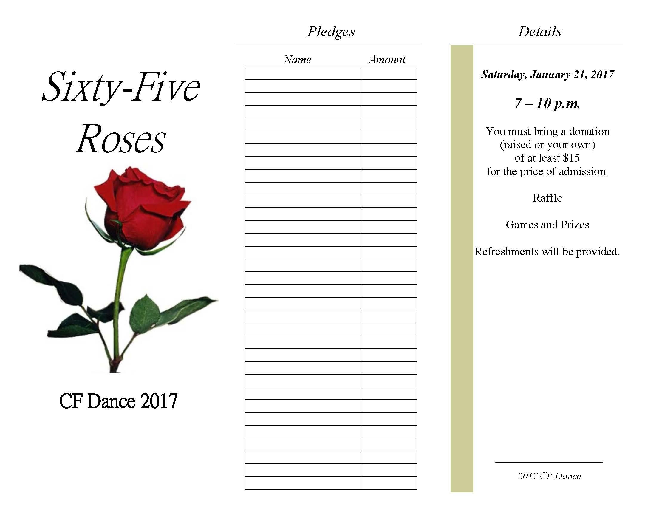 Cf Dance Pledge Form