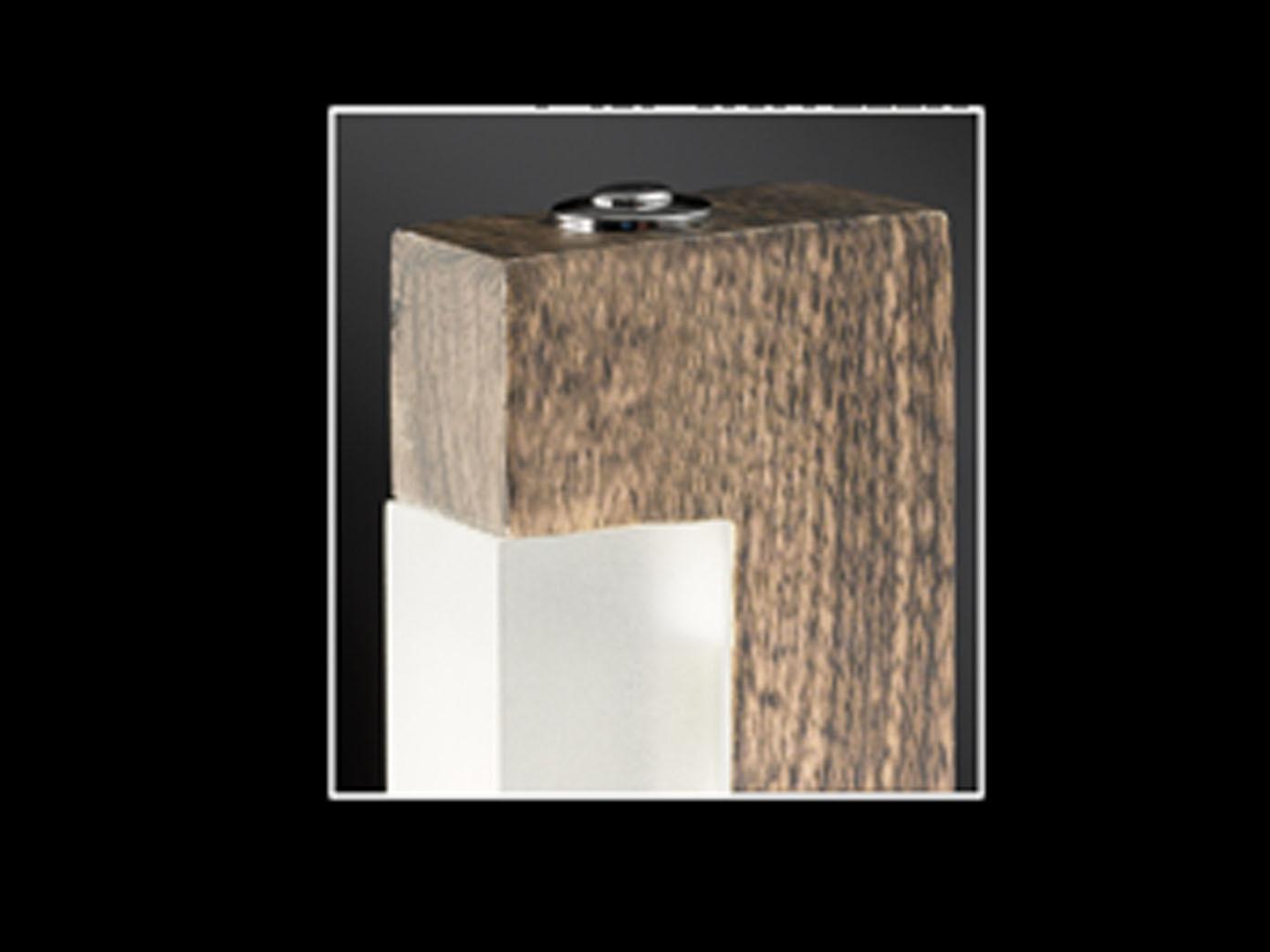 Deckenfluter Holz B Leuchten Malibu Led Stehlampe Dimmbar Holz