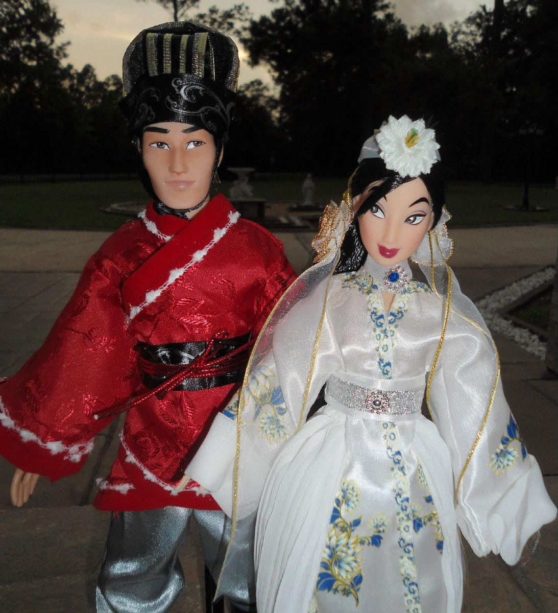 Wedding Li  Mulan 11 Doll Set
