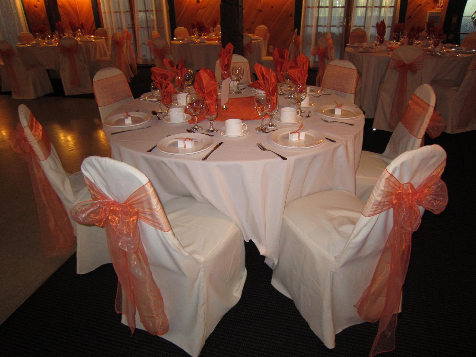 fall chair covers gray leather recliner wedding decorations | set the mood decor