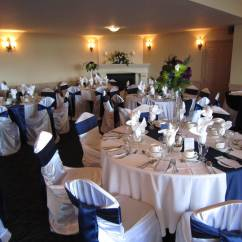 Wedding Chair Cover Hire Scarborough Tufted Wingback Sale Navy Blue And Lime Green Decor Set The Mood