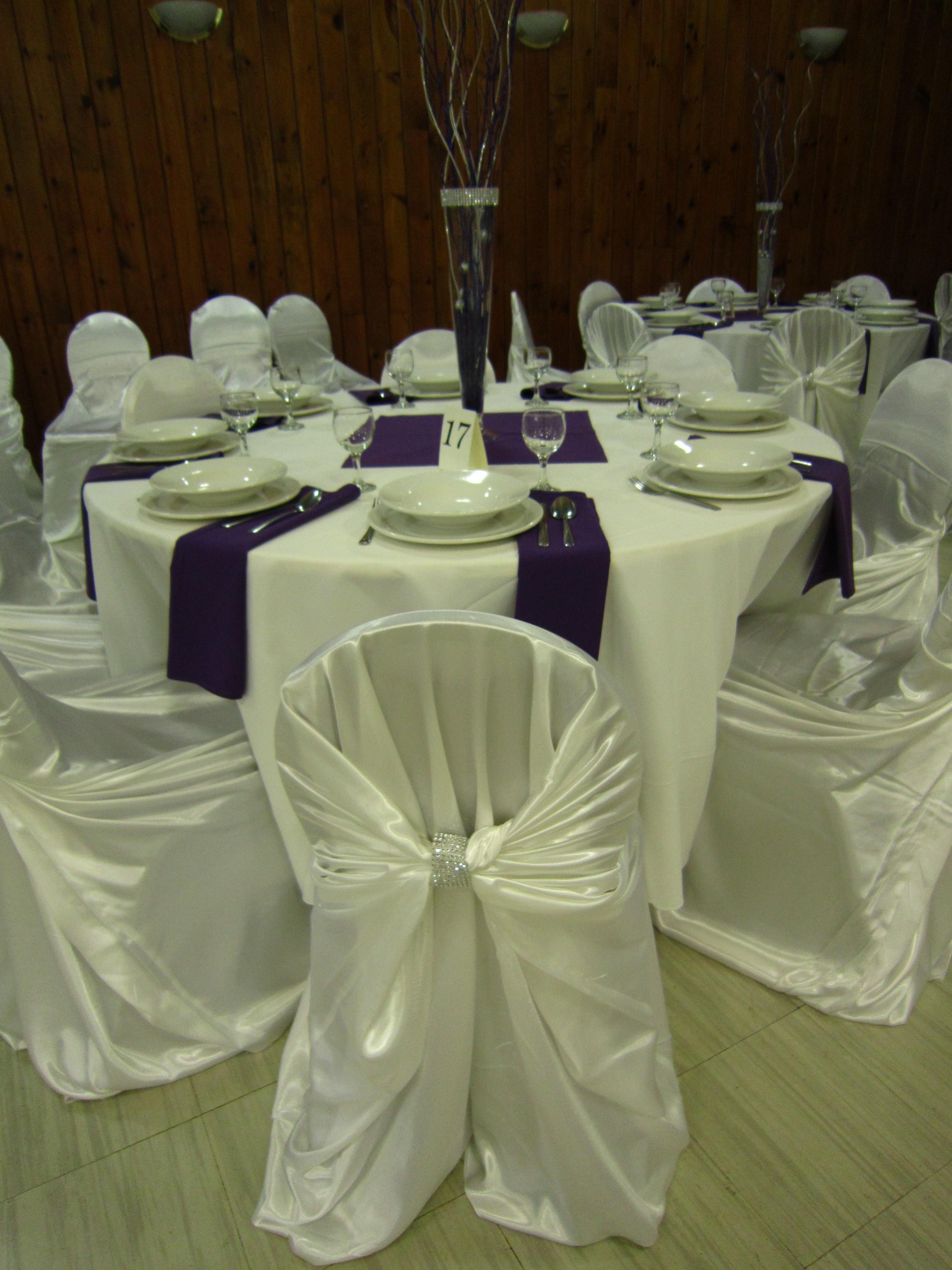 chair covers hamilton ontario swing home depot white satin set the mood decor