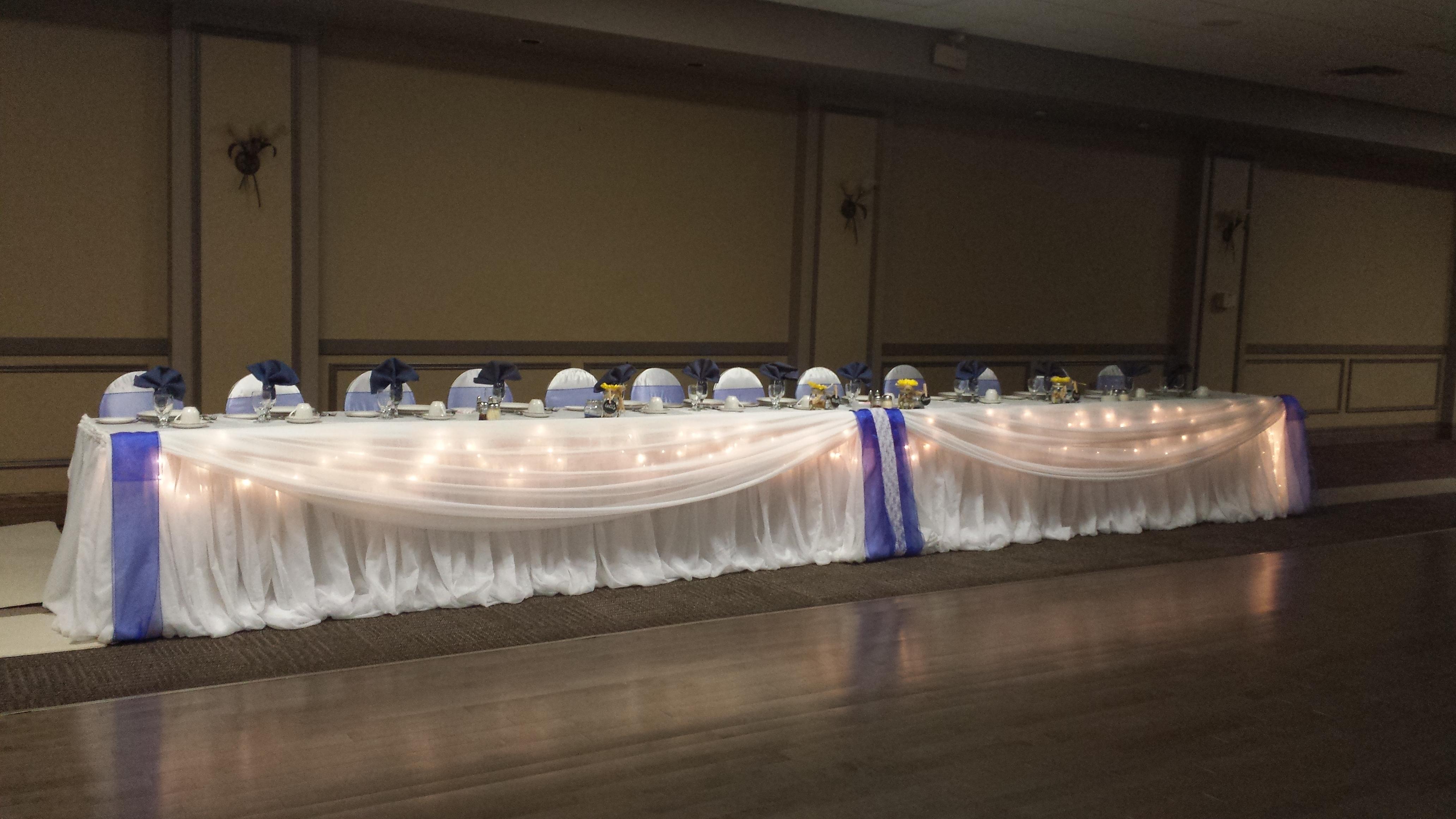 wedding head table  Set The Mood Decor