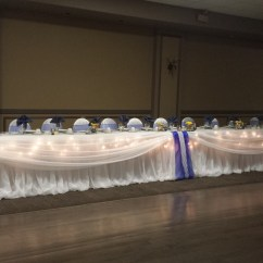Wedding Chair Covers Toronto Red Leather Head Table With Icicle Lights   Set The Mood Decor