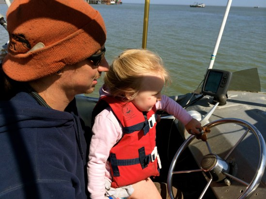 Papa and Bea first drive of the F/V Sea Breeze 2015
