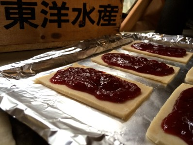Filling the Strawberry Jam Toaster Pastry