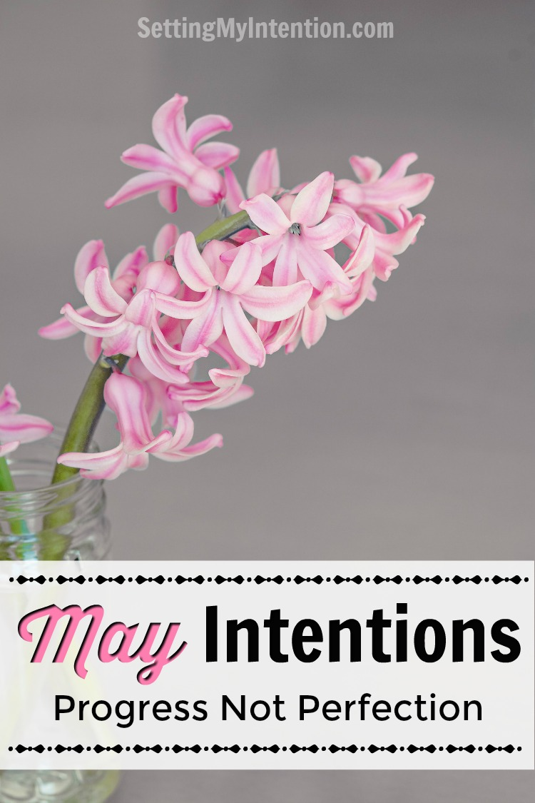 These are my monthly intentions or goals for May: Doing it scared...or curiously