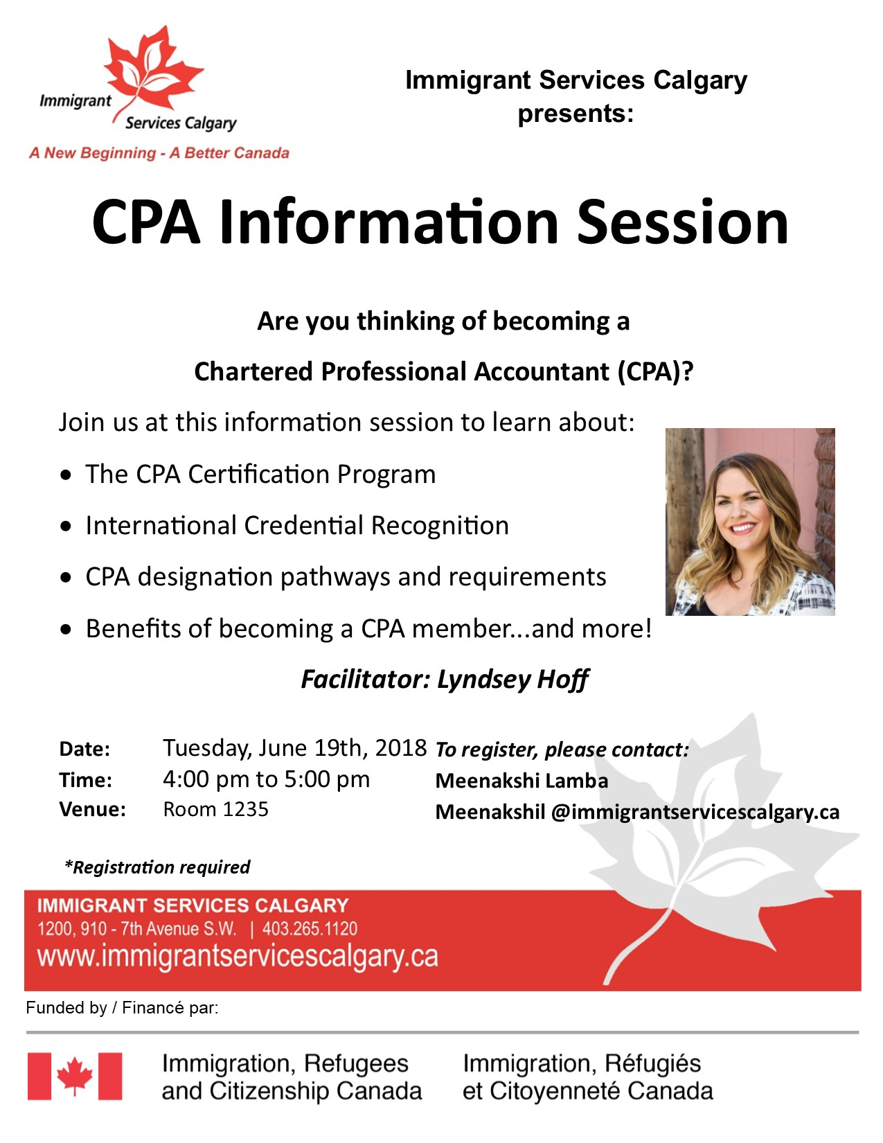 Cpa Information Session Settlement Calgary