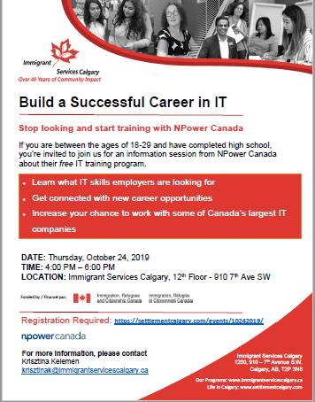 It Professional Npower Canada Workshop Settlement Calgary