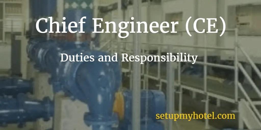 Hotel Chief Engineer CE  Engineering Manager Job Description