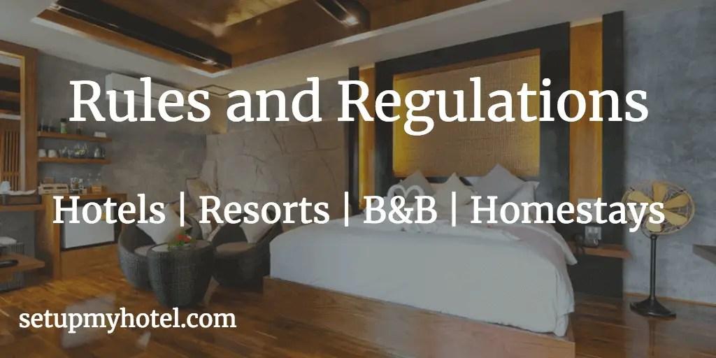 Hotel Rules And Regulations Sample Hotels Resorts B B