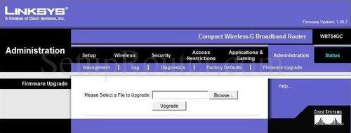 Linksys WRT54GC Screenshots