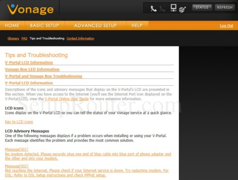 medium resolution of keywords on the vonage vdv23 tipsandtroubleshooting screenshot