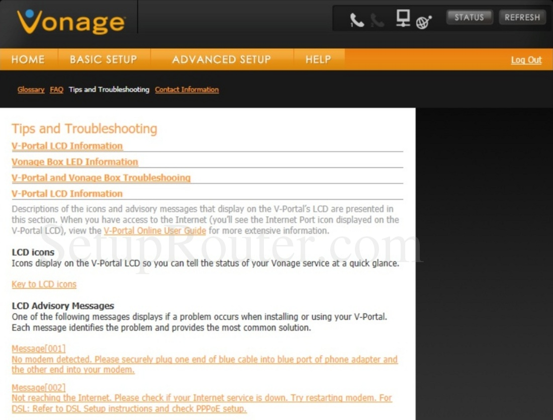 hight resolution of keywords on the vonage vdv23 tipsandtroubleshooting screenshot