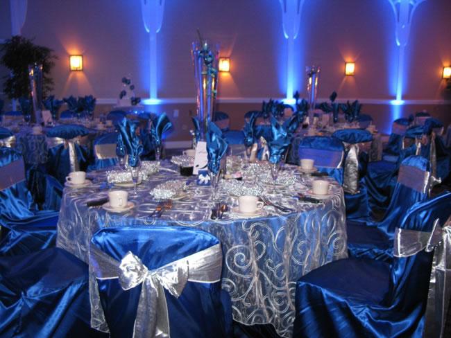 Blue wedding reception decorations  Popular News