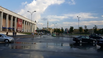 Skanderbeg Square after the storm