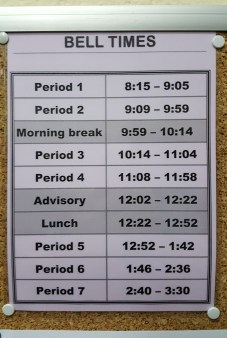 This schedule is so essential, I've set it as my phone's lock screen picture!