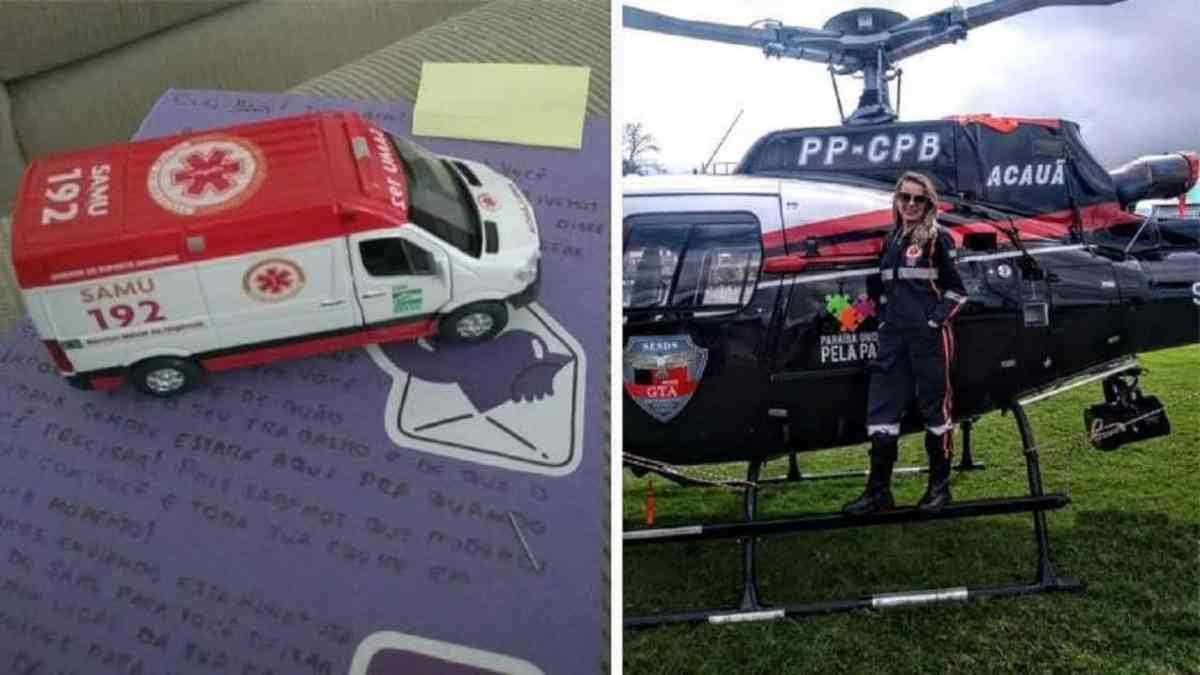 Nubank altera data de fatura de enfermeira em plantão e dá como mimo miniatura de ambulância do Samu