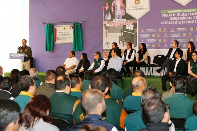 Inauguró Eruviel Ávila Escuela de Artes Escénicas de UAEM