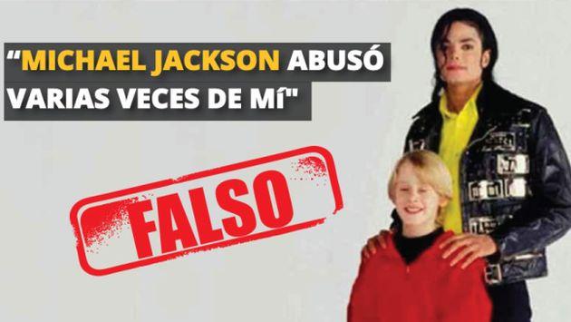 Dudosas las declaraciones de Macaulay Culkin de haber sido violado por Michael Jackson