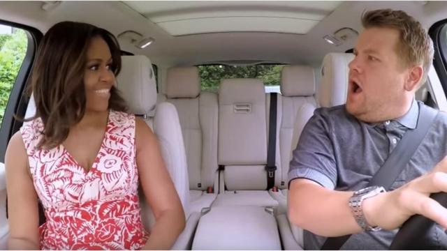 Michelle Obama se sube al 'Carpool Karaoke'