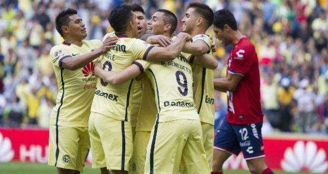 Gol de Oribe Peralta al minuto 33 y así finaliza el primer tiempo América 1 Veracruz 0