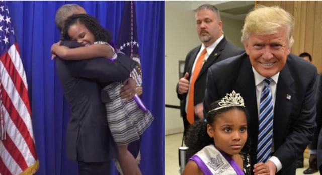 La reacción de la niña que conoce a Trump y a Obama se vuelve viral