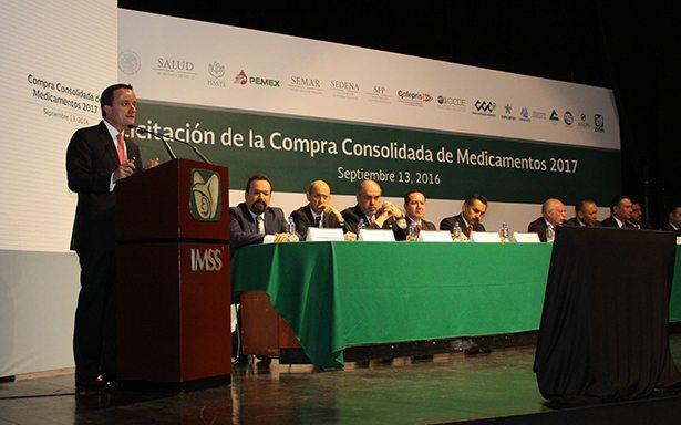Casi 50,000 millones de pesos para la compra consolidada de medicamentos del Gobierno Federal