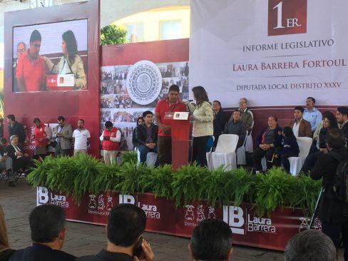 Laura Barrera Fortoul rindió su primer informe de actividades