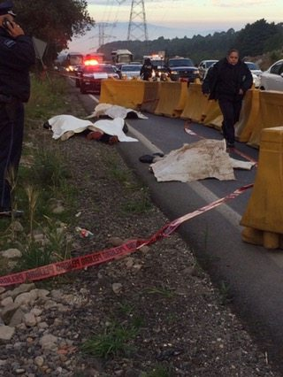 Dejan 4 cuerpos en la México-Toluca