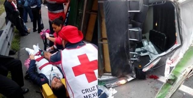 Volcadura en Circuito Mexiquense deja un muerto