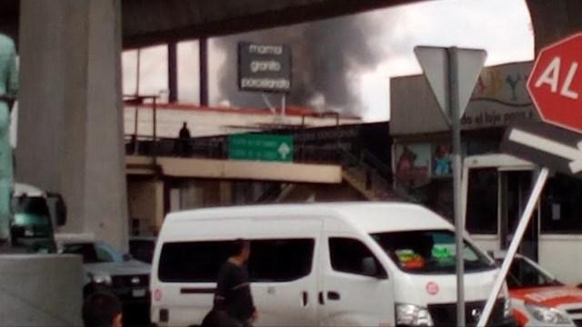 Se incendia fábrica de pintura en Naucalpan