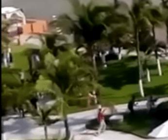 Filmación causa pánico por presunta balacera Boca del Rio, Veracruz