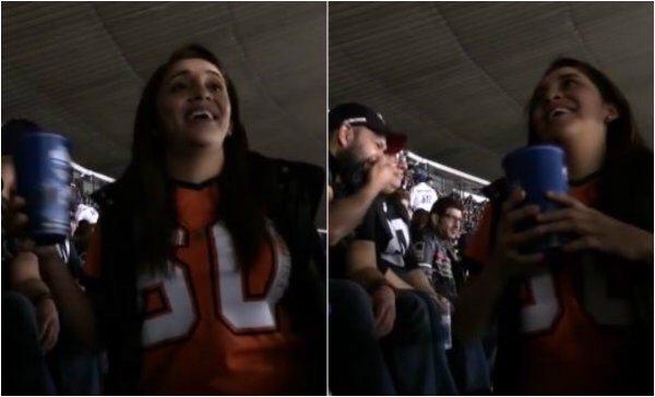 """Surge #LadyBilingüe por hablar """"inglés"""" en partido de NFL en el Azteca"""