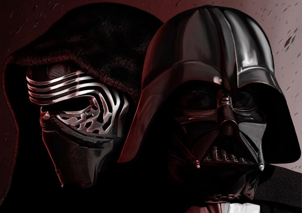 Darth Vader celebra la Navidad con su nieto Kylo Ren
