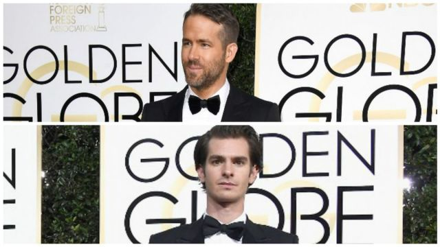 Ryan Reynolds y Andrew Garfield se besan
